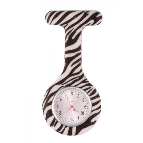 Reloj enfermera Silicona Cebra