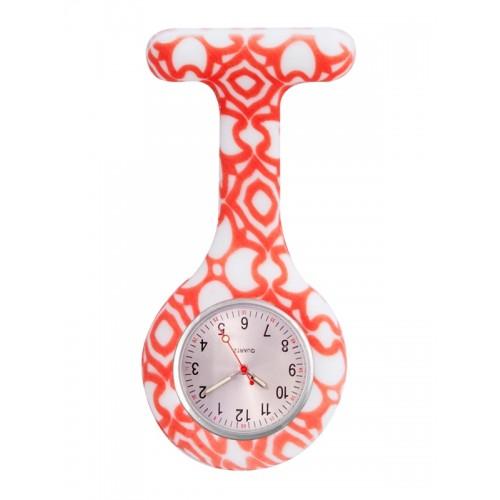 Reloj enfermera Aztec Rojo
