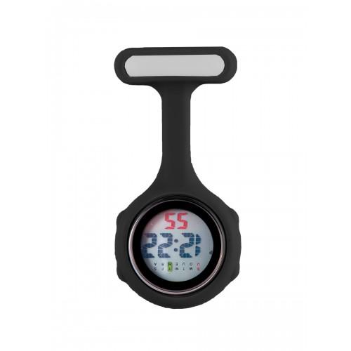Reloj de bolsillo digital para enfermeras Negro