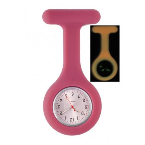 Reloj Enfermera Silicona Fluorescente Berry