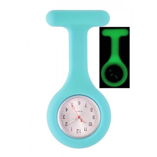 Reloj Enfermera Silicona Fluorescente Azul