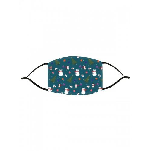Mascarilla de Tela Símbolos Navideños