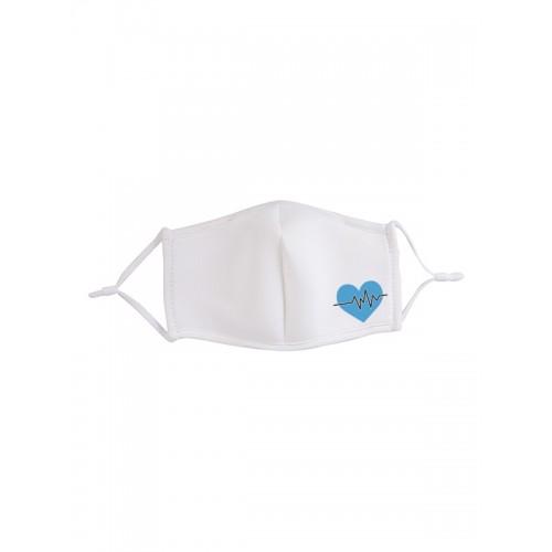 Mascarilla de Tela Corazón Azul