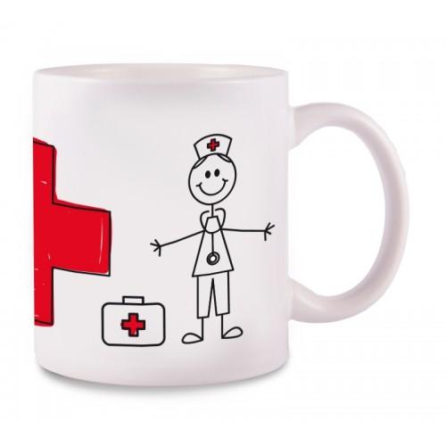 Taza Enfermero Stick Cross