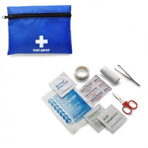 Mini kit Primeros Auxilios Azul