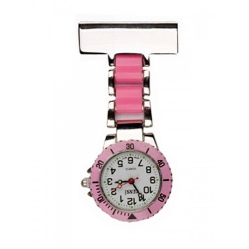 Reloj para enfermeras Plateado Rosa