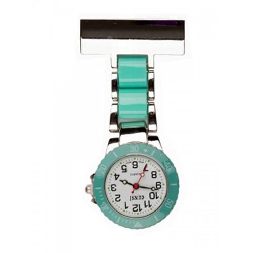 Reloj para enfermeras Plateado Menta