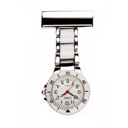 Reloj para enfermeras Plateado Blanco
