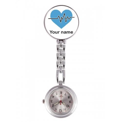 Reloj Enfermera ECG Azul