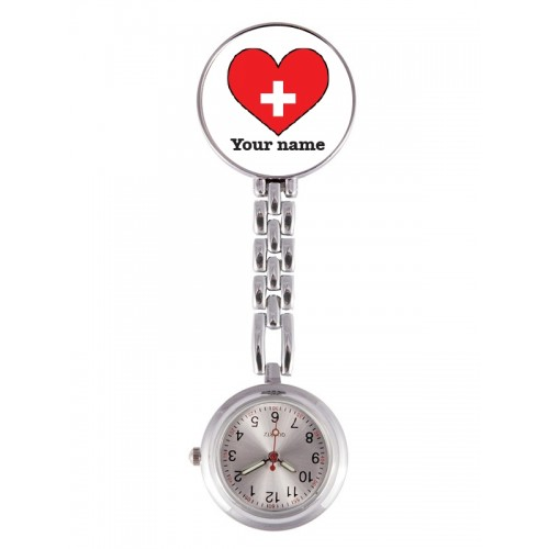 Reloj Enfermera Corazón Rojo