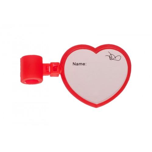 Etiqueta de Identificación Estetoscopio Corazón