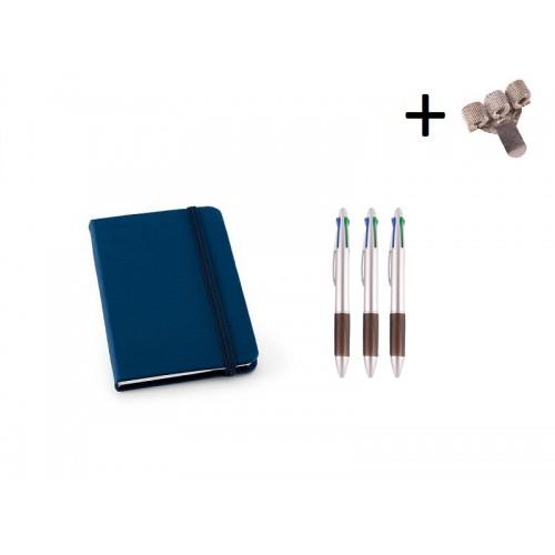 Set Cuaderno A6 + Bolis Azul
