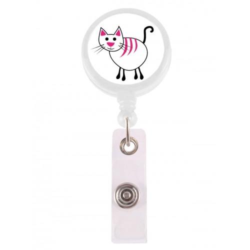 Porta Credenciales Retráctil Gato