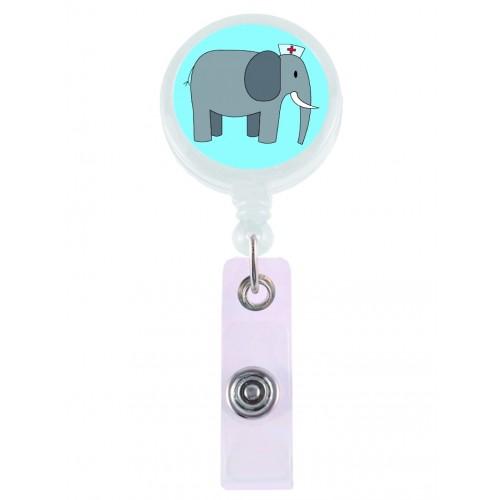 Porta Credenciales Retráctil Elefante