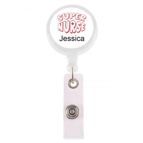 Porta Credenciales Retráctil Super Nurse 2 con su Nombre