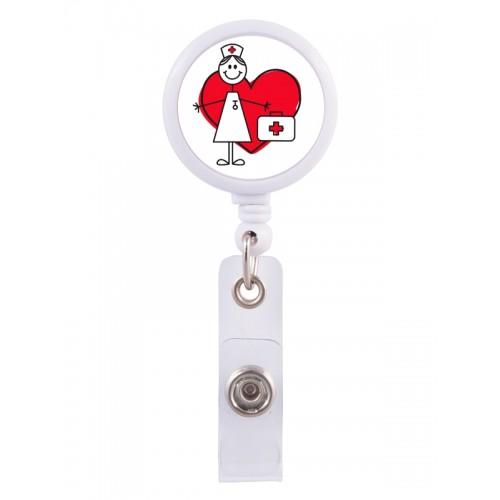 Enganche Retráctil Tarjeta Identificativa Stick Nurse