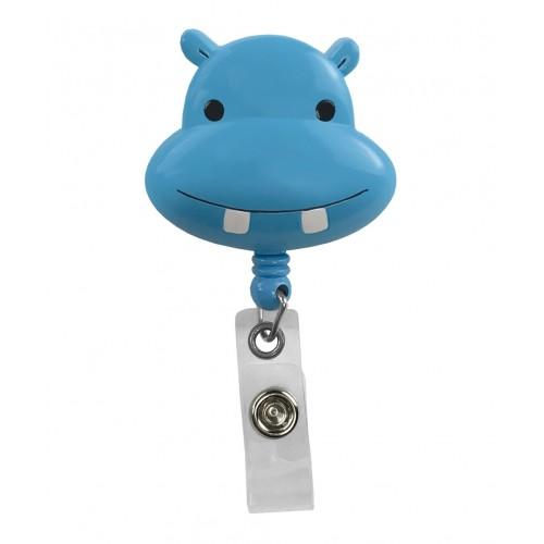 Pinza Retráctil Tarjetas Identificativa Hipopótamo