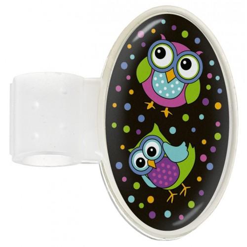 Etiqueta Identificación Estetoscopio Owl Black Party