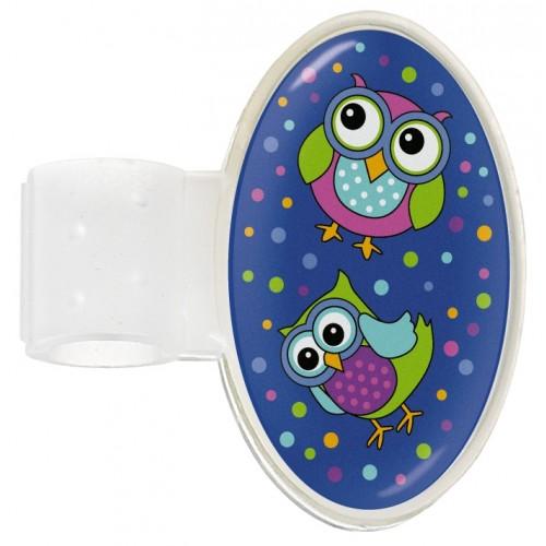 Etiqueta Identificación Estetoscopio Owl Blue Party