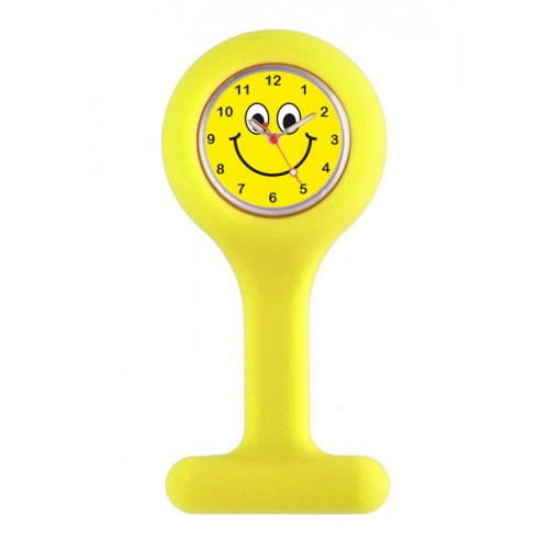 Reloj para Enfermera Silicona Amarillo Happy Face